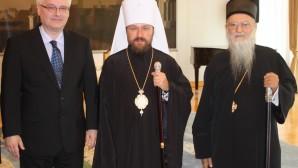 Presidente del Departamento de Relaciones Exteriores Eclesiásticas  se reunió con el Presidente de Croacia
