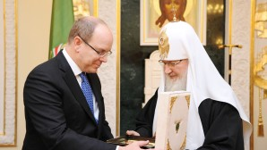 Santísimo Patriarca Kiril se reunió con el Príncipe Alberto II de Mónaco