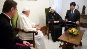 Metropolitano Hilarión de Volokolamsk se reunió con el Papa Francisco