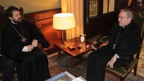 Metropolitano Hilarión de Volokolamsk se reunió con  el Arzobispo de Barcelona