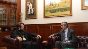 Metropolitano Hilarión de Volokolamsk se reunió con el recién nombrado Embajador de Colombia en Rusia