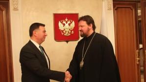 Administrador de las Parroquias Patriarcales en los EE.UU. se reunió con el Primer Teniente del Representante Permanente de Rusia ante la ONU, Sr. Alexander Pánkin