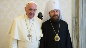 Il metropolita Hilarion dal Papa