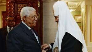 Su Santidad Patriarca Kiril se reunió con el Presidente del Estado de Palestina, Mahmoud Abbas