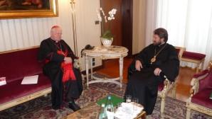 Metropolita Hilarión de Volokolamsk se reunió con el Cardenal Angelo Scola