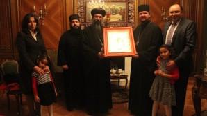 Delegazione copta alla cattedrale russa di New York