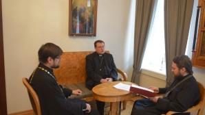 Il metropolita incontra l'arcivescovo Paolo Pezzi