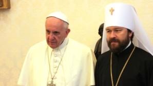 Il metropolita Hiarion incontra il Papa