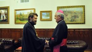 Il metropolita Hilarion incontra il nuovo nunzio