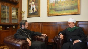 Le métropolite Hilarion de Volokolamsk a reçu le mufti Albir Krganov