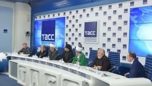 Conférence de presse sur la collecte d'aide humanitaire à l'intention de la population syrienne par les communautés religieuses de Russie