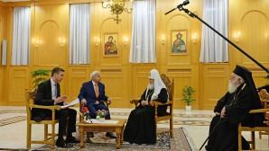 Συνέντευξη του Αγιωτάτου Πατριάρχη Κυρίλλου στο δημόσιο ραδιοτηλεοπτικό φορέα της Αλβανίας