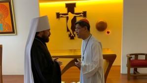 DECR chairman meets with Manila Archbishop Cardinal Tagle
