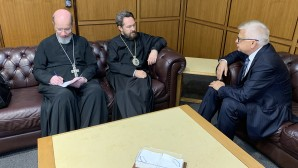 Metropolitan Hilarion of Volokolamsk meets with Russia's Ambassador to Lebanon Alexander Zasypkin