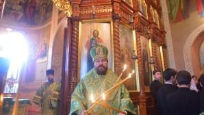 Le métropolite Hilarion de Volokolamsk a célébré la liturgie de la fête de saint Serge de Radonège à l'église du Saint-Esprit de la Laure de la Trinité-Saint-Serge