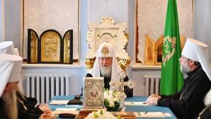 Святейший Патриарх Кирилл возглавил заседание Священного Синода в Троице-Сергиевой лавре