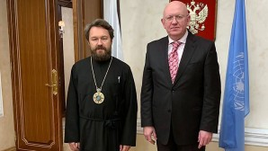A New York, rencontre du métropolite Hilarion avec le représentant permanent de la Russie auprès de l'ONU