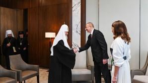 Συνάντηση του Προκαθημένου της Ρωσικής Εκκλησίας με τον Πρόεδρο του Αζερμπαϊτζάν Ιλχάμ Αλγίεφ