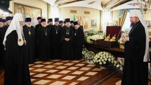 Πανηγυρική δεξίωση με αφορμή την 11η επέτειο από ενθρονίσεως του Αγιωτάτου Πατριάρχη Κυρίλλου στο Ναό του Σωτήρος Χριστού Μόσχας