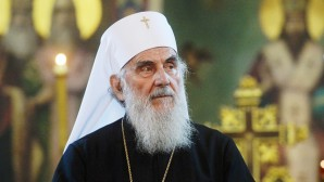 Primate of Russian Orthodox Church greets His Holiness Patriarch Irinej of Serbia with Krsna Slava