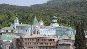 Поздравление Святейшего Патриарха Кирилла по случаю престольного праздника Русского на Афоне Пантелеимонова монастыря