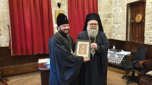 Primate of Orthodox Church of Antioch meets with DECR vice-chairman, Archbishop Leonid of Vladikavkaz and Alania
