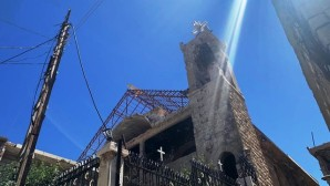 Humanitarian aid brought from Russia to the war-damaged church of the Dormition in Syrian city of Zabadani