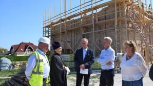 Mr. Miklós Soltész, Hungary's Secretary of State for Churches, Minorities and Civil Affairs, visits construction site of Orthodox church in Hévíz