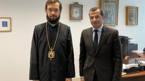 Metropolitan Anthony of Chersonesus and Western Europe meets with Lebanon's ambassador in France