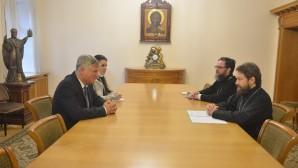 Réunion du métropolite Hilarion avec l'ambassadeur de Serbie en Russie