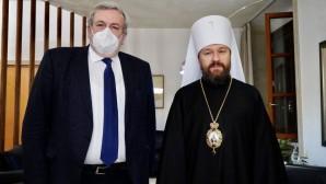 Συνάντηση του μητροπολίτη Βολοκολάμσκ Ιλαρίωνα με τον κυβερνήτη της Απουλίας