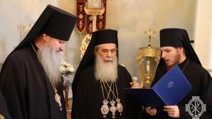 Представители Русской духовной миссии поздравили Патриарха Иерусалимского Феофила с праздником Рождества Христова