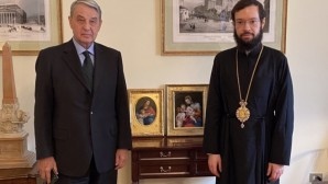 The Metropolitan of Сhersonesus and Western Europe Anthony (Sevryuk) meets ambassador of Russia to the Holy See Alexander Alexeyevich Avdeyev