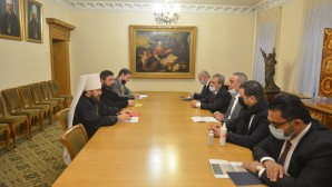 DECR chairman meets with chairman of Palestinian Civil Affairs Committee