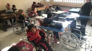 Εκπρόσωπος του Πατριάρχη Μόσχας και Πασών των Ρωσσιών παρά τω Πατριαρχικώ Θρόνω της Αντιοχείας δώρισε αναπηρικά αμαξίδια στα συριακά παιδιά